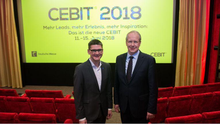 Am Montag haben Oliver Freese, Vorstand der Deutschen Messe AG, und Stefan Schostok, Oberbürgermeister von Hannover, ihr neues Konzept für die CeBIT im Detail vorgestellt.