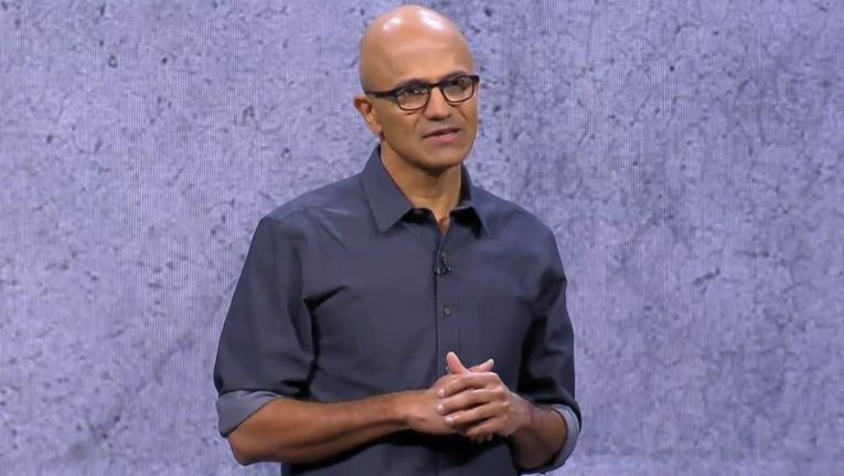 Microsoft-CEO Satya Nadella auf der Ignite 2017