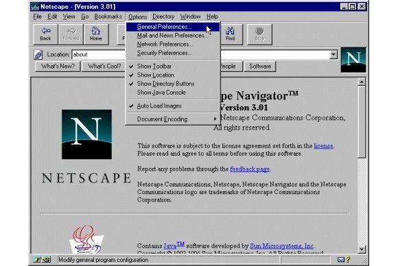Netscape Navigator 3 besaß weniger neue Konzepte als sein Vorgänger.