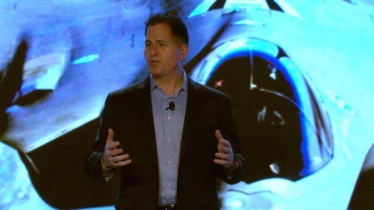 Michael Dell bei der Vorstellung der neuen IoT-Strategie auf dem IQT Day in New York