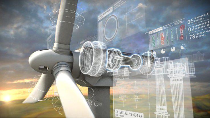 Durch eine Kooperation mit Apple sollen von GE Predix generierte Informationen (z.B. eines Windkraftrads) auf auf iOS-Geräten bereitgestellt werden.