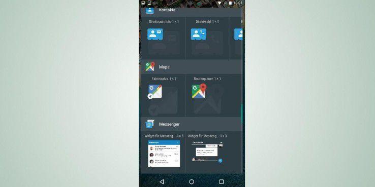 Platzieren Sie mit wenigen Handgriffen Ihre wichtigsten Kontakte als Widget auf Ihrem Startbildschirm.