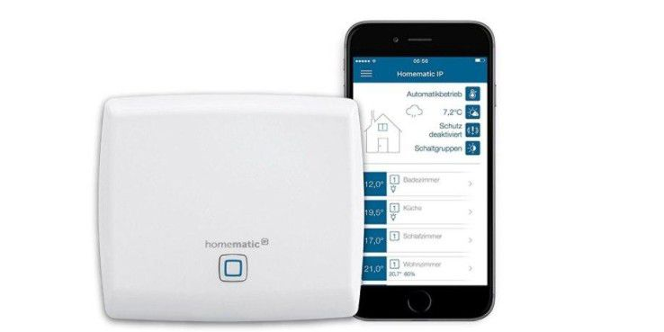 Der Homematic IP Access Point mit der App.