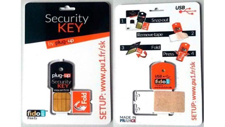 Den Fido-Security Key von Plug-up für das Google-Konto gibt es für 5 Euro, etwa bei Amazon.