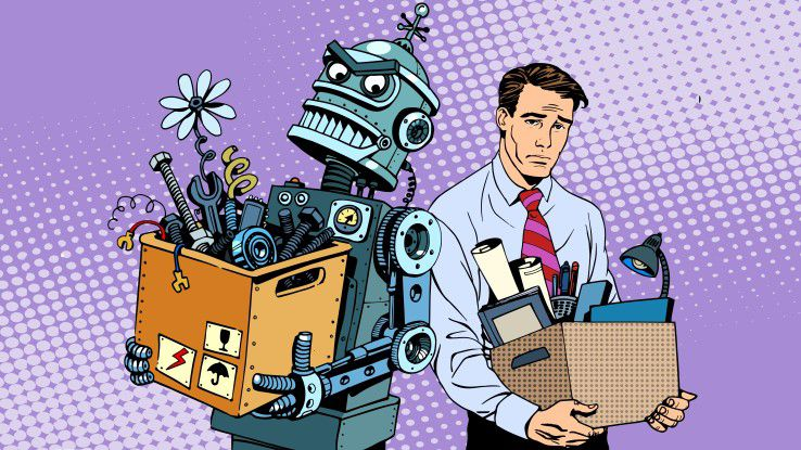 roboter bernimmt arbeitsplatz werden sie durch ki ersetzt. Black Bedroom Furniture Sets. Home Design Ideas