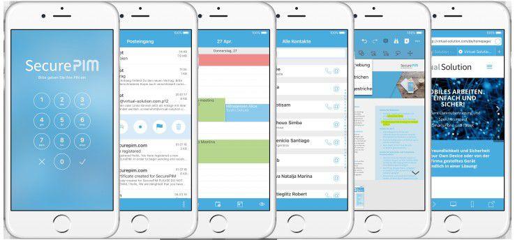 SecurePIM Office unterstützt das mobile Arbeiten mit zahlreichen Funktionen.
