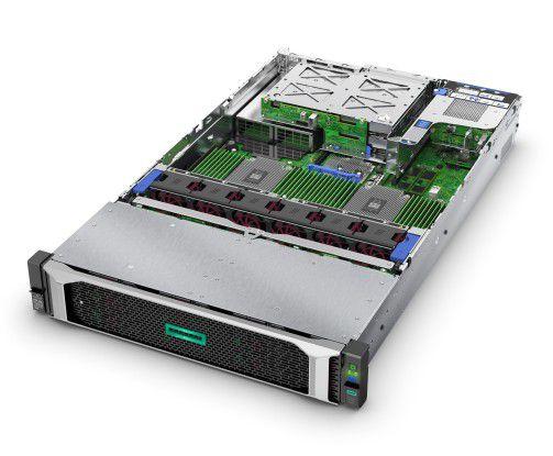HPE ProLiant DL385 Gen10 Server mit leistungsstarken AMD-Epyc-Prozessoren.