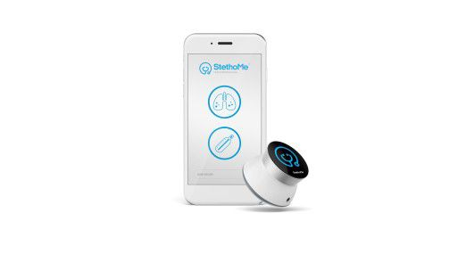 Das polnische Startup StethoMe hat die App und das digitale Stethoskop entwickelt.