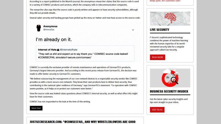 Der Albtraum jedes IT-Unternehmens: Quellcode schlägt im Hacker-Forum auf.