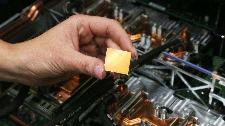 Die neue Power9-CPU soll IBMs Server-Zukunft vergolden.