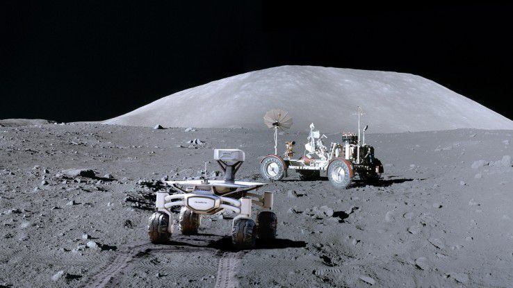 Nach über 45 Jahren soll 2018 der Audi Lunar Quattro Rover das Mondfahrzeug der Apollo-17-Mission besuchen.