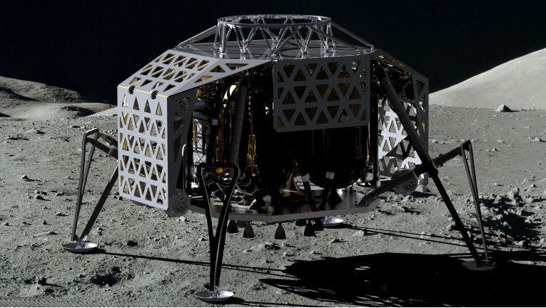 Das Landemodul Alina wird die erste LTE-Basisstation auf dem Mond.
