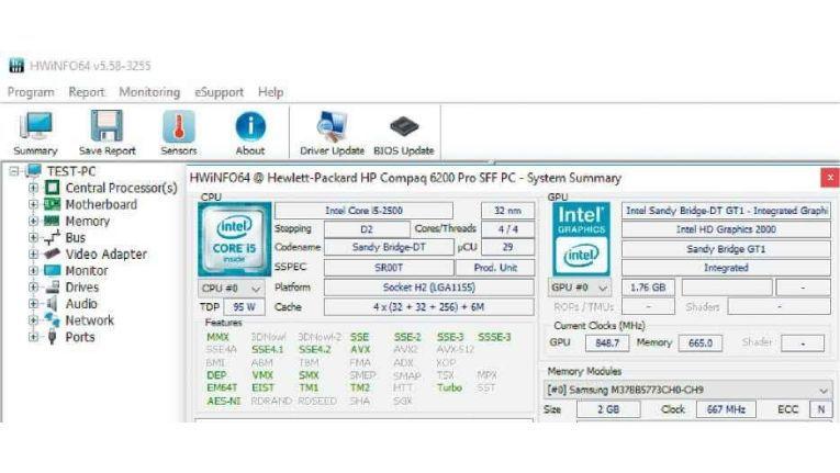 Sieht kompliziert aus, doch zum Auslesen wichtiger Hardwareinformationen genügt ein einziger Mausklick.