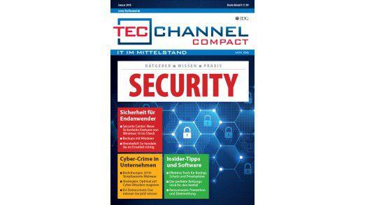 160 Seiten Security-Praxis, -Grundlagen und -Ratgeber im neuen TecChannel Compact Januar 2018.
