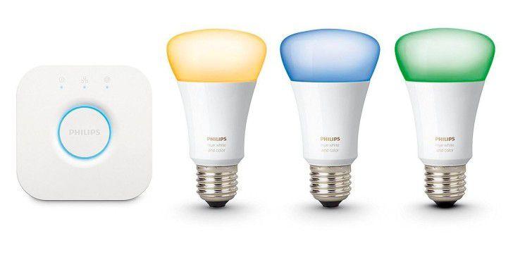 Der Einstieg ins intelligente Licht ist mit der Philips-Hue-Reihe vergleichsweise kostspielig.