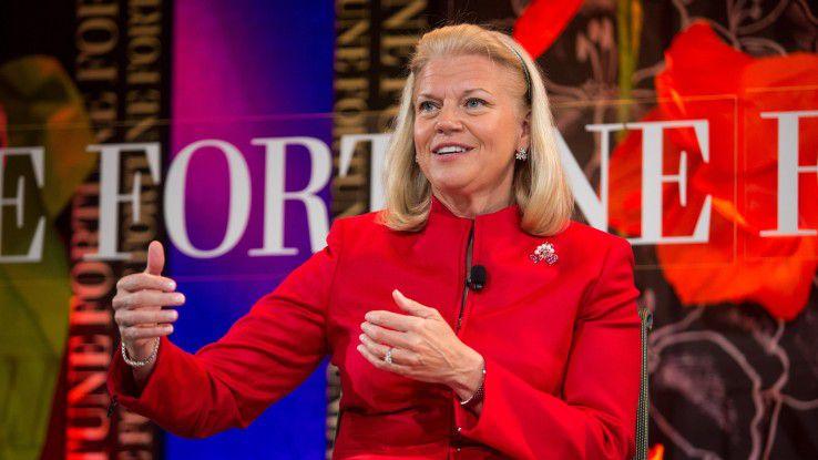 Ginni Rometty, CEO von IBM, kann sich nach langer Durstrecke wieder über Umsatzwachstum freuen. Die Frage ist nun: Ist das die Trendwende?