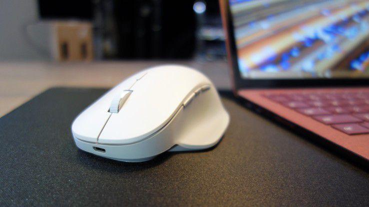 Ab dem 14. Februar ist Microsofts Surface Precision Mouse auch in Deutschland erhältlich. Wir sagen Ihnen, was die Maus taugt.