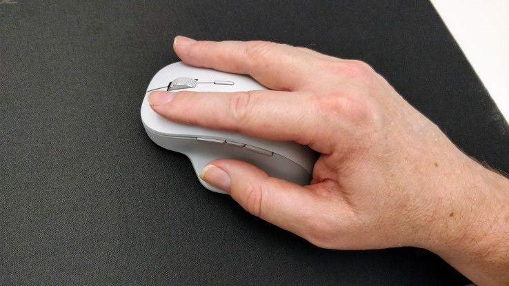 Die Surface-Präzisions-Maus ist für größere Hände besonders gut geeignet.