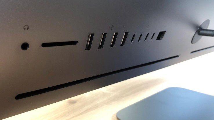 Der schöne Rücken des iMac Pro en detail.