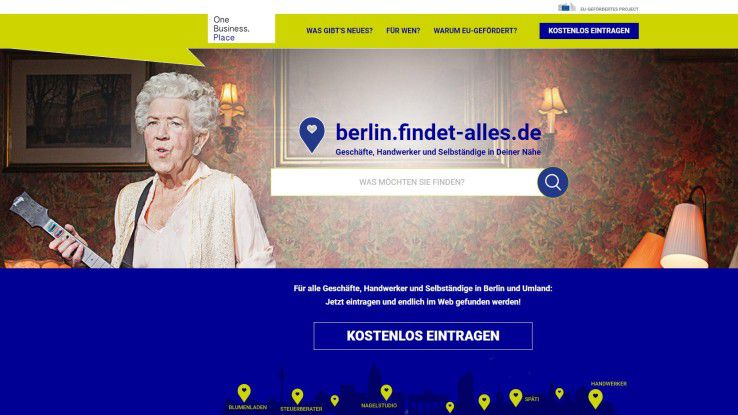Die Website berlin.findet-alles.de soll regionalen Läden, Handwerkern und Selbständigen zu einem Webauftritt verhelfen, der auch gefunden wird.