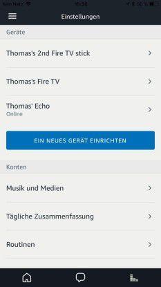 Amazon Fire-Geräte können auch per Sprachsteuerung an Amazon Echo-Geräte angebunden werden.
