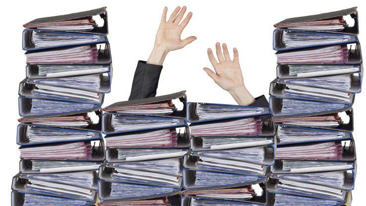 Bürokratie und Akten, wo man hinsieht. Es gibt Wege, diesen Zustand zu ändern.