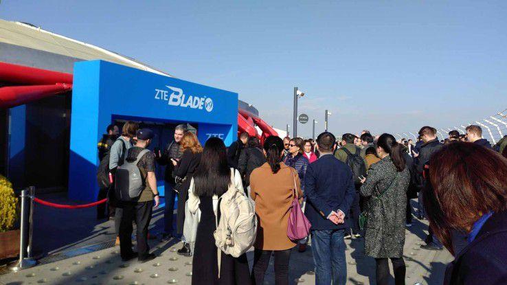 Geradezu gemütlich ging es beim ZTE-Launch-Event im Vergleich zur Samsung-Vorstellung zu, wo es stundenlange Einlass-Schlangen gab.