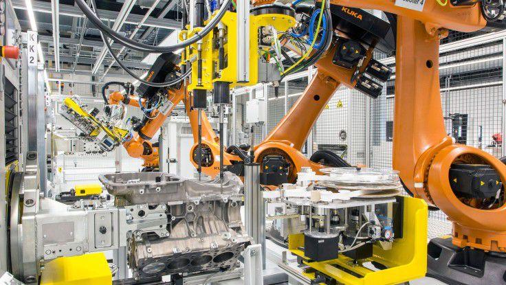 Bei Porsche werden alle Fertigungsschritte in Echtzeit über IT-Systeme mit dem digitalen Abbild verglichen.