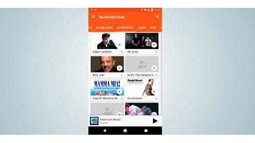 Der Musikstreamingdienst Google Play Music bietet über 35 Millionen Songs. Außerdem finden Sie hier zahlreiche Hörbücher.