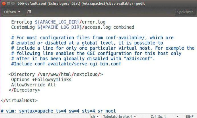 Apache-Konfiguration