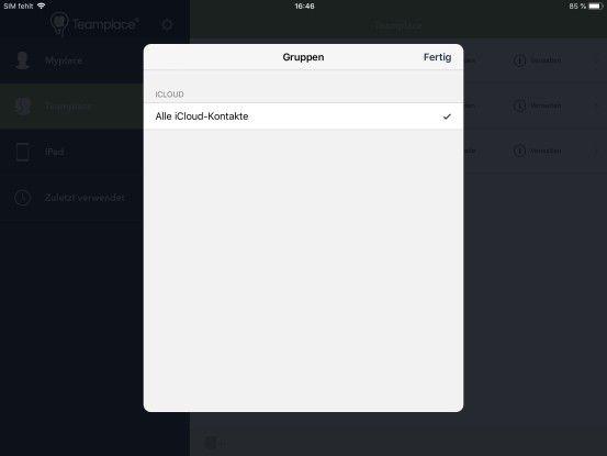 Zugriff auf Kontakte aus nicht gemanagter App