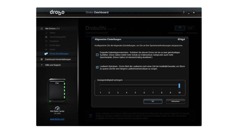 BeyondRAID richtet vollautomatisch flotte oder sichere Datenredundanzen ein.