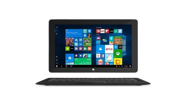 Sparsam statt schnell: In sehr günstigen Windows-Tablets wie dem Trekstor Surftab Duo W3 sitzt ein stromsparender, aber langsamer Atom-Prozessor.