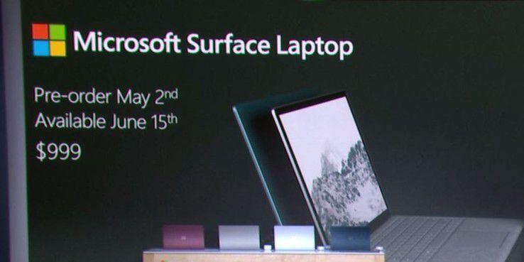 US-Preise für das Surface Laptop.