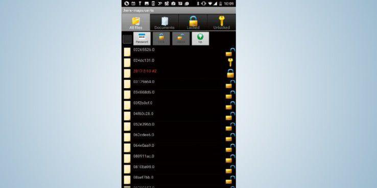 """Mit der App """"File Locker"""" lassen sich einzelne Dateien auf Ihrem Smartphone verschlüsseln. Der Zugriff ist anschließend nur noch per Passworteingabe möglich."""