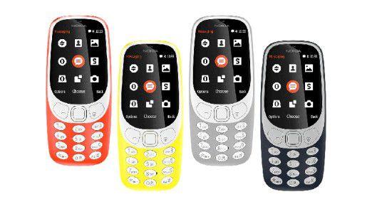 Nokia fokussiert mittlerweile auf Mobilfunksendestationen und Netzwerkgeräte. Hier sehen Sie die Neuauflage des Klassikers Nokia 3310.