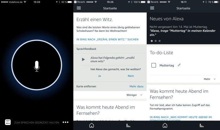 Mit der App Reverb kann man Alexa auch auf dem iPhone nutzen.