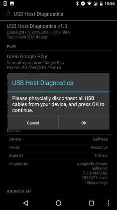 """Ob Ihr Smartphone mit dem USB-OTG-Standard kompatibel ist, können Sie mit der kostenlosen Applikation """"USB Host Diagnostics"""" herausfinden."""