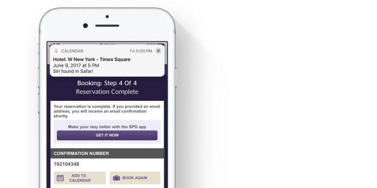 iOS soll viele Dinge aus den Kontext erschließen. Beispielsweise einen neuen Kalendereintrag aus einer Onlinebuchung.