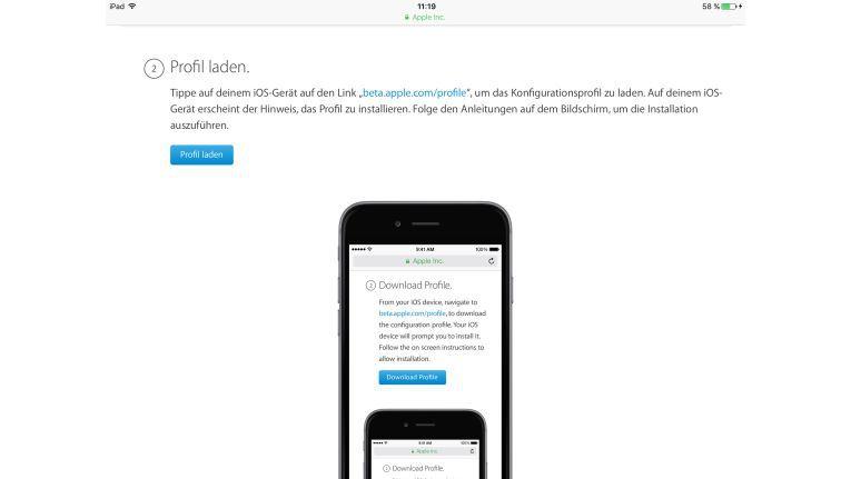 Gewusst wie: Anstelle von iOS 11 das Konfigurationsprofil für tvOS laden.