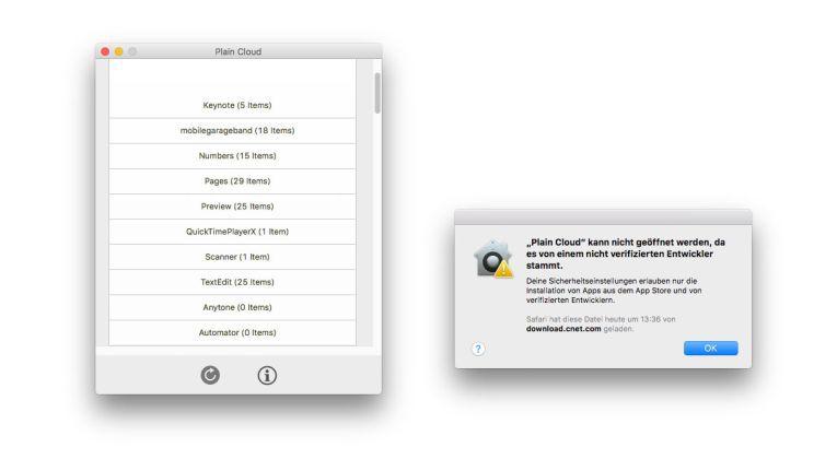Mit Plain Cloud lässt sich schnell herausfinden, welche Apps Daten in der Cloud abgelegt haben.