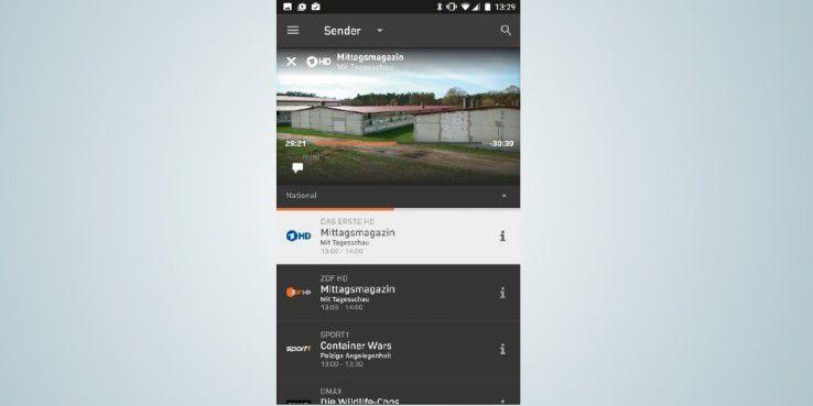 """Mit der kostenlosen """"Zattoo""""- App können Sie viele verschiedene Sender live auf Ihrem Smartphone streamen."""