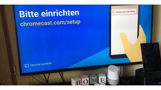 Nachdem Chromecast im Fernseher steckt, wir er auch über die Google-Home-App konfiguriert