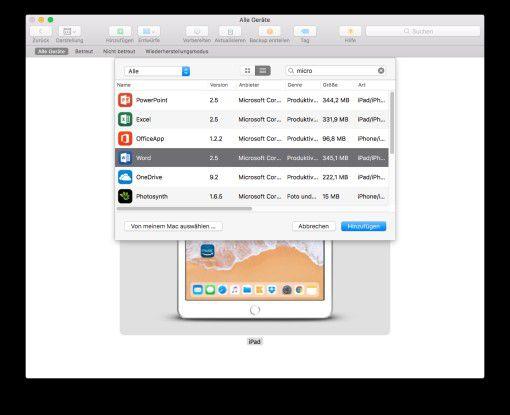 Das Tool ist für die Installation großer Apps sinnvoll, praktisch ist auch die Suchfunktion.