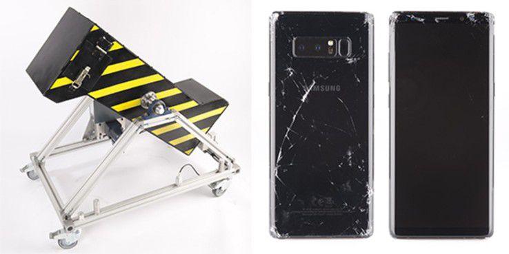 Das Galaxy Note 8 besteht den Falltest der Stiftung Warentest nicht.