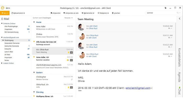 Der Mailclient Em Client bietet eine sehr einfach bedienbare Mailverschlüsselung. Mit wenigen Klicks richten Sie einen PGP-Schlüssel ein und versenden und empfangen verschlüsselte Nachrichten.