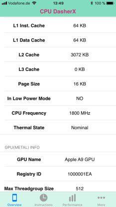 Im Normalfall liegt die Taktung bei etwa 1800 MHz.
