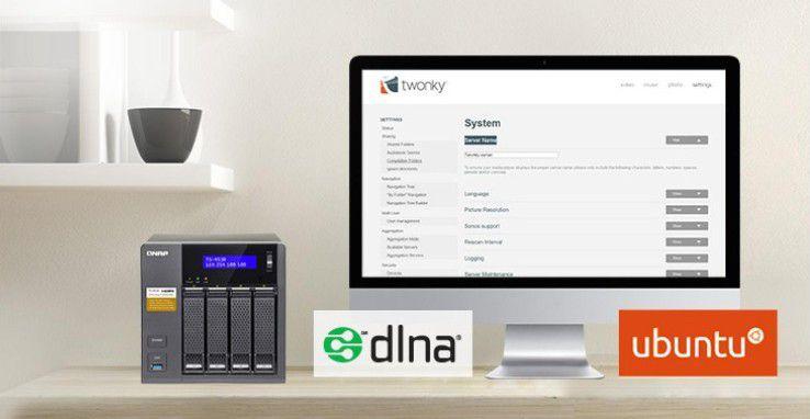 Um Twonky Server auf einem Qnap-NAS der Serien TS und TSV zu installieren, benötigen Sie Ubuntu.