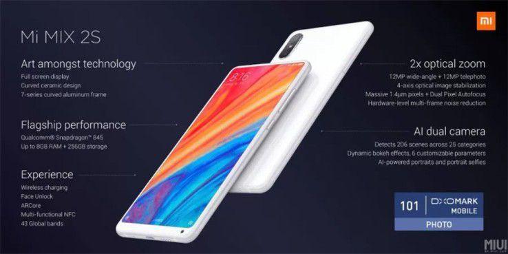Xiaomis Mi Mix 2S ist das erste China-Smartphone mit ARCore-Support.