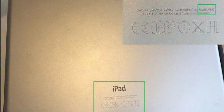 """Diese iPad-Modellnummer deutet darauf hin, dass es sich um ein iPad Pro 12.9"""" (2015) mit mobiler Datenverbindung handelt"""